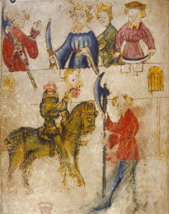 Illuminated page from the Gawain manuscript