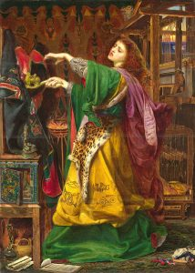 Morgan le Fay, Frederick Sandys, 1863
