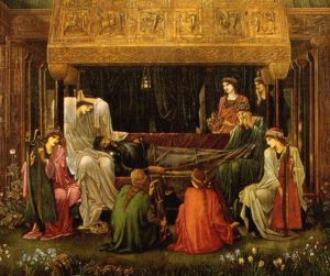 Detail) The Last Sleep of Arthur in Avalon, Edward Burne-Jones, c. 1881